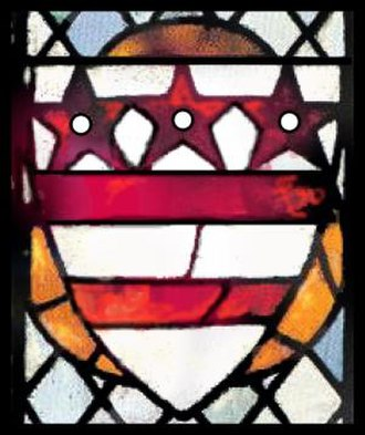 Coat of arms of the Washington family - Selby Abbey, England
