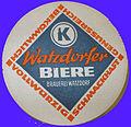 Watzdorfer Biere, Bierdeckel (DDR), Konsum.jpg