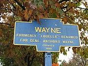 Wayne, PA Keystone Marker