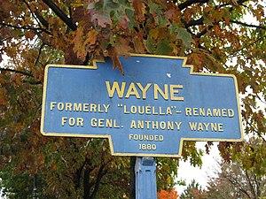 Wayne, Pennsylvania - Keystone Marker for Wayne