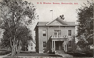 Bentonville, Arkansas - US Weather Bureau Bentonville building c. 1900