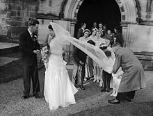 Church Wedding At Oswestry England In January 1954