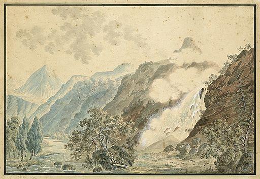 Weibel Pissevache-Wasserfall