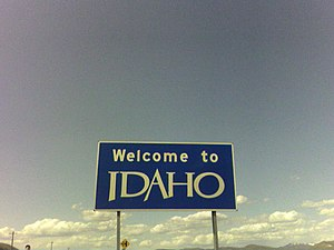 Franklin, Idaho - Welcome sign near Franklin