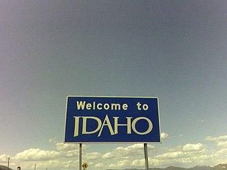 Franklin, Idaho - Welcome sign near Franklin