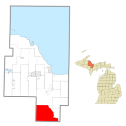 Location within Marquette County