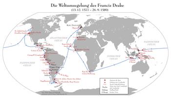 Francis Drake's circumnavigation of the world 1577–1580