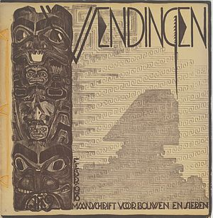 Wendingen - Wendingen 1918-2, architecture and art (cover M.de Klerk). M.de Klerk: 6 issues and 3 covers
