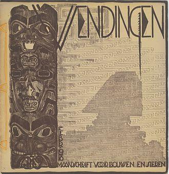 Wendingen - Wendingen 1918-2, architecture and art (cover M.de Klerk). M.de Klerk: 6 issues and 3 covers