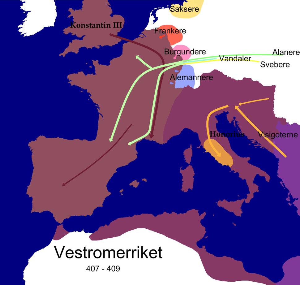 Western Roman Empire 409