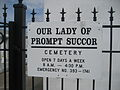 Westwego Our Lady of Prompt Succor Cemetery May 2009 01 Sign.JPG