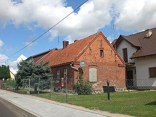 Więckowy Village in Pomeranian Voivodeship, Poland