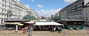 Naschmarkt - Typical market stall at the Naschmarkt in Vienna, Austria