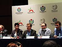 Wikimanía 2015 - Day 2 - Press Conference - LMM - México D.F. (4).jpg