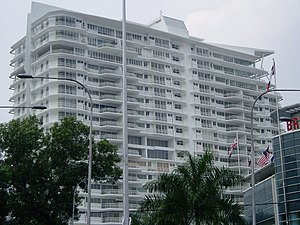 Taman Tun Dr Ismail - View of The Residence in TTDI, Kuala Lumpur completed in 2006.