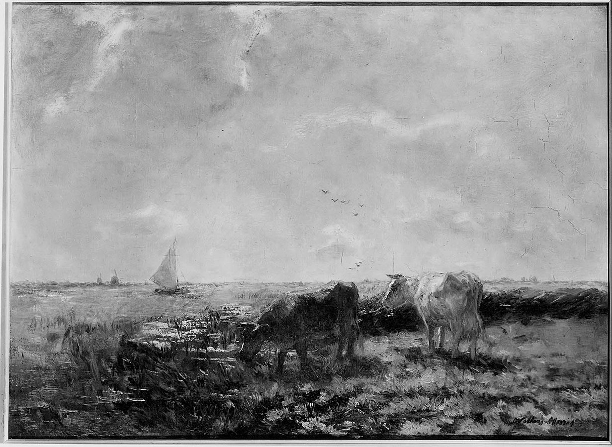 River Landscape with Cattle