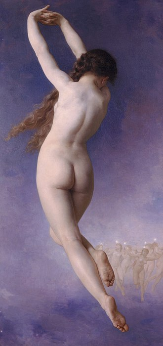 Pleiades (Greek mythology) - Lost Pleiad (1884) by William-Adolphe Bouguereau.