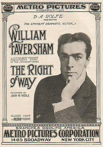 The Right of Way (1915 film) - Image: William Faversham in The Right of Way