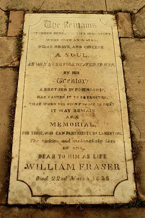 William Fraser (British India civil servant) - Image: William Fraser Tomb