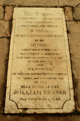 William Fraser (British India civil servant) - Image: William Fraser Tomb