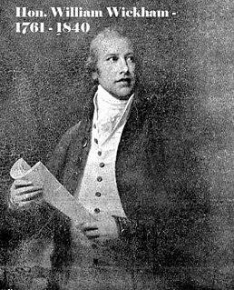 William Wickham (1761–1840) British civil servant and politician, died 1840