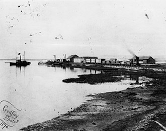 Phineas Banning - Banning's Landing, Wilmington, 1870