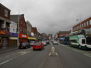 Rusholme area of Manchester, England