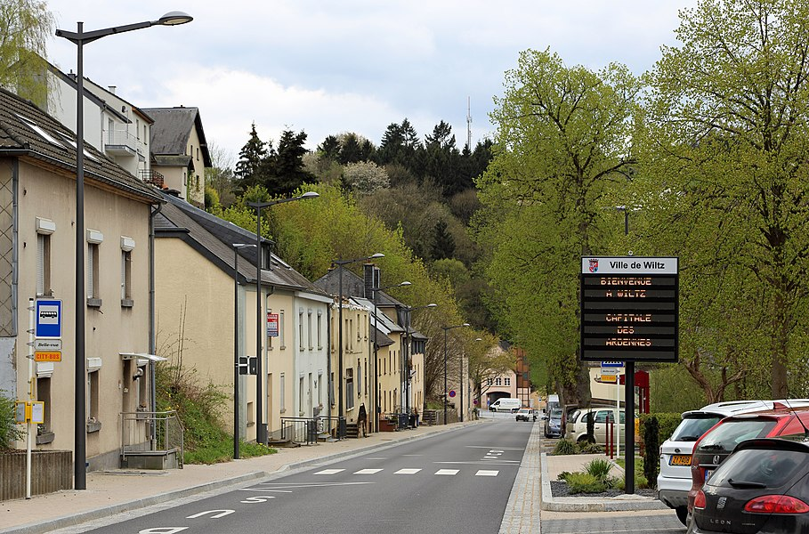 Wiltz (Grand Duchy of Luxembourg): entry of the city