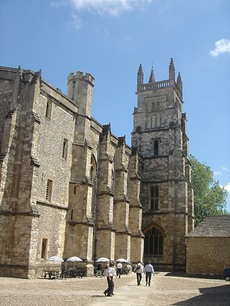 Robert Lock Graham Irving - Winchester College Chapel (right) and scholars' College (left), where Irving was Master