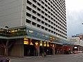 Winnipeg Walkway skywalk section wrapping around the Delta Hotel.JPG