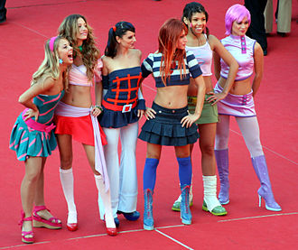 Winx Club: The Secret of the Lost Kingdom - Dancers dressed as the Winx Club posing at the Rome FilmFest.