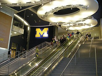 Crisler Center - Image: Wisconsin vs. Michigan women's basketball 2013 48 (Crisler Center interior)