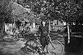 Woman and bicycle 1942, Hungary Fortepan 6708.jpg