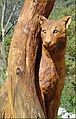 Wood Carving, Cougar, Oak Glen, CA 4-27 (9009363906).jpg