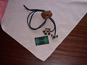 Wood Badge - Wood Badge neckerchief, beads, and woggle