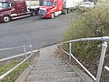 Woodrow Wilson Service Area; Staircase 2 Truck Parking.jpg