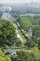 World War II era planes fly over Washington, D.C. seen from Arlington National Cemetery (17243968328).jpg