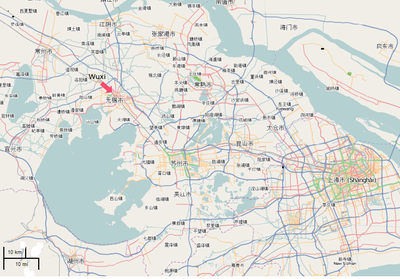 Kunshan China Map.Wuxi Wikipedia