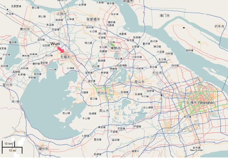 Wuxi environs map