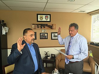 Willie Colón - Deputy Commissioner Joseph Yasinski swore Deputy Sgt. William A Colón to the rank of Deputy Lieutenant