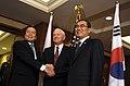 Yasukazu Hamada Robert Gates and Lee Sang-Hee 20090530.jpg