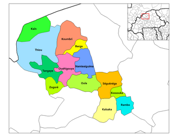 Koumbri Department location in the province