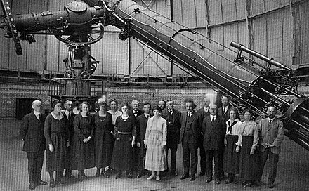 The 1.0-meter (40 in) refractor, at Yerkes Observatory, the largest achromatic refractor ever put into astronomical use Yerkes Observatory Astro4p7.jpg