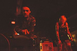 Youth Code - Ryan George and Sara Taylor on stage, 2014