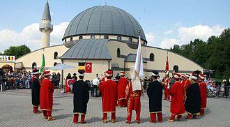 Religion in Belgium - Yunus Emre Mosque of the Turkish comunity of Belgium.