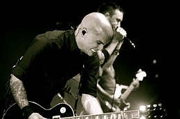 Zach Blair Tim McIlrath Rise Against live 2008.jpg