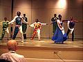 Zafra M Lerman students dancing to illustrate chemistry 2001 Gordon Conference (photo by David Morton).jpg