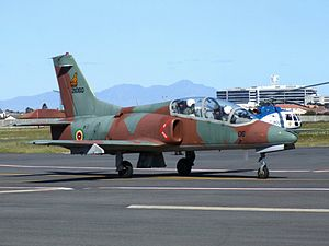 Air Force of Zimbabwe - K-8 Karakorum Trainer at Ysterplaat Airshow, Cape Town.