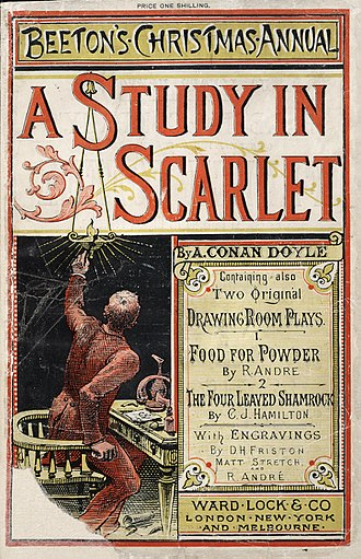 Scarlet (color) - A Study in Scarlet by Arthur Conan Doyle (1887)