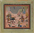 """""""Bazur, the Magician, Raises up Darkness and a Storm"""", Folio from a Shahnama (Book of Kings) MET DP159386.jpg"""